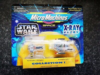 Vintage Star Wars Space Micro Machines X-RAY FLEET #1 TIE FIGHTER by...
