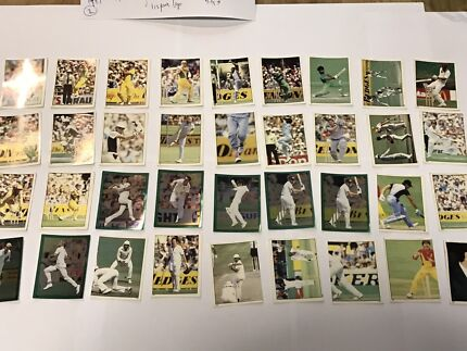 1984 Cricket trading card stickers x 36.