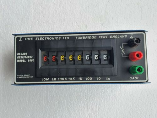 Time Electronics 8000 (1040) Resistance Decade Box 1 to 100 M ohm