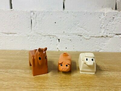 Lego Duplo Brown Horse Pig White Sheep Vintage Farm Animals Bulk Lot