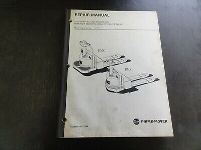 Bt Prime-mover Rmx Hmx Electric Pallet Truck Repair Manual  302065-000