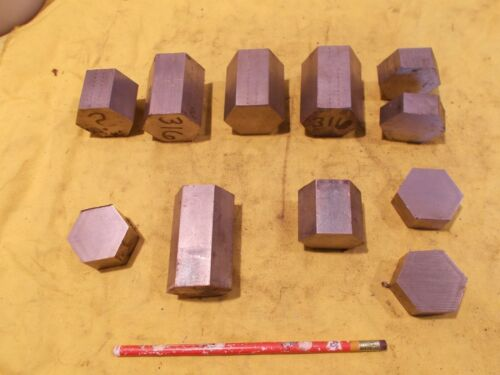 """LOT of 316 STAINLESS STEEL HEX BAR machine shop rod metal stock 1 5/8"""" & 1 3/4"""""""