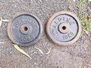 Pair of 10kg spalding weight disks Joyner Pine Rivers Area Preview