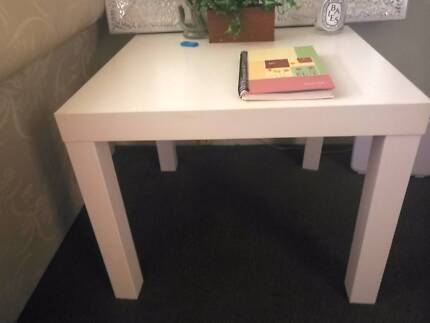 Ikea white side tables