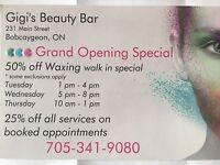 Eyelash extensions, body waxing & eyebrow and lash tinting