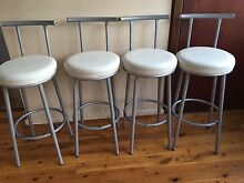 4 x White bar stools Bexley Rockdale Area Preview