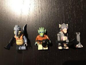 Figurines lego star wars de la course de vaisseaux