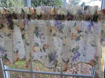 """pfaltzgraff Orchard 58"""" Valance 1 1/2"""" rod pocket SPECIAL MADE, Limited Amounts for sale  Woodstock"""