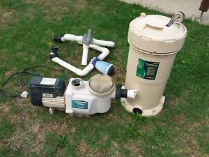 Pool pump and filter. Will separate