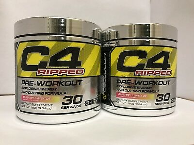 Cellucor C4 Ripped Pre Workout 60 Servings Cherry Limeade Free Ship