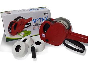 Motex 2612 Date Coder Pricing Price Gun + Best Before Labels & Ink!
