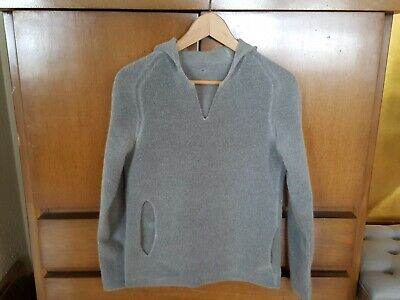Label Under Construction 100% Cashmere Double Ply Reversible Hoodie Sweater