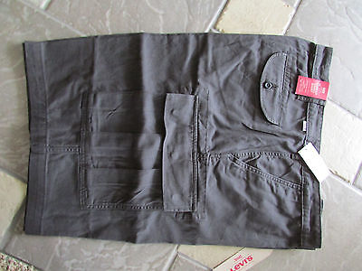 NEW LEVIS CARRIER CARGO SHORTS MENS 48 BLACK 248780001 LOOSE FIT FREE SHIP