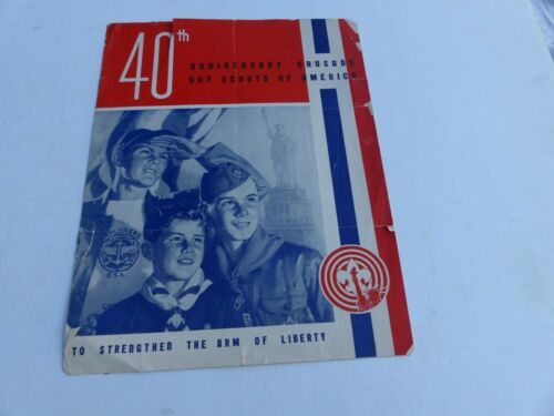 1950 40th Anniversary Crusade Boy Scouts of America Paper Information Brochure