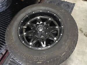 """17"""" fuel off road rims with tires"""