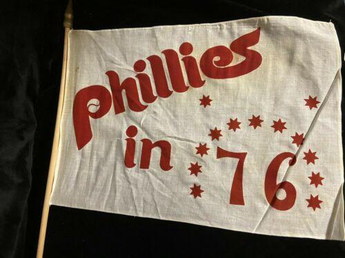 VINTAGE PHILLIES FLAG BANNER 1976 BICENTENNIAL