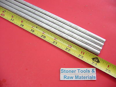 4 Pieces 516 Aluminum 6061 Round Rod 24 Long Solid T6511 .312 Bar