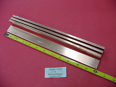 4 Pieces 14x 1 C110 Copper Bar 12 Long Solid Flat Bar Mill Bus Bar Stock H02