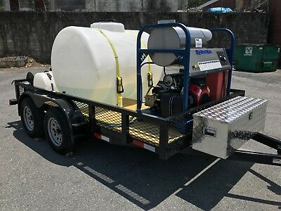 Hot Water Pressure Washer Trailer Mounted-8gpm4000psi-honda Gx690
