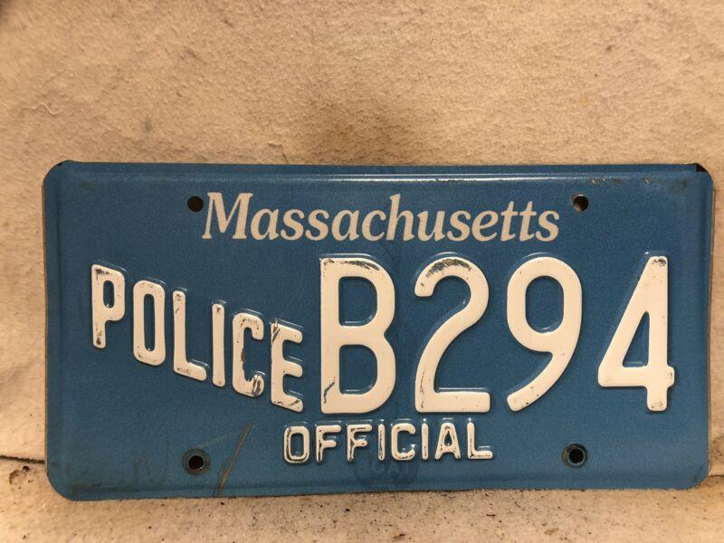 Massachusetts Official License Plate