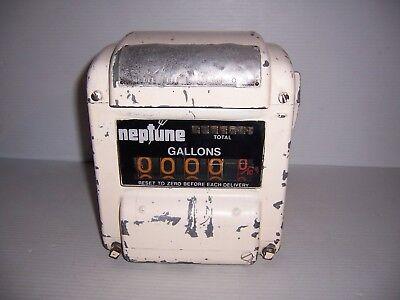 Vintage Neptune Reading Register Fuel Meter Model 431 Code 0