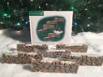 NEW DEPARTMENT 56 VILLAGE ACCESSORIES STONE WALL (SET OF 6) #52629 VILLAGE PIECE