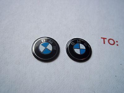 2x BMW key emblem logo 325i 330i 335i 528i 530i 740i 745li with 11mm diameter
