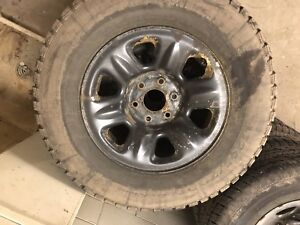 139.7 x 6 steel rims and 265/70/17  winter tires