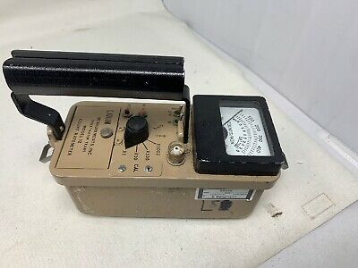 Ludlum Model 12 Ratemeter Survey Meter Mw