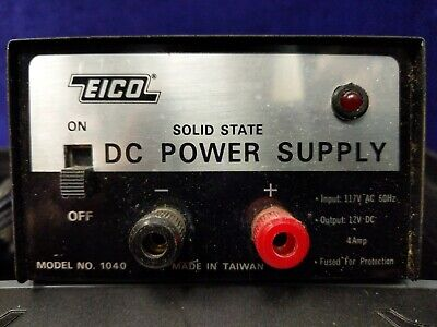 Vintage Eico 1040 Solid State 117 Vac To 12 Volt Dc 4 Amp Power Supply