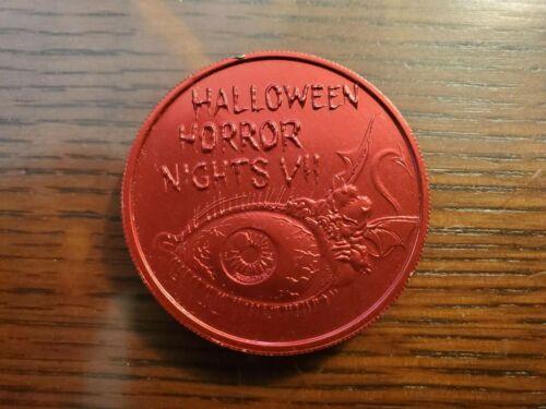 Vintage 1997 HHN Halloween Horror Nights VII Universal Studios Florida Coin Red