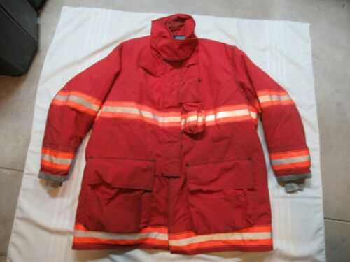 50 x 40 Globe Firefighter Jacket Turnout BUNKER GEAR RESCUE RED FIRE Coat