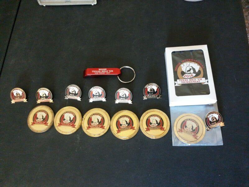 Loyal Order Of Moose Lodge International tournament pins coin bottle opener