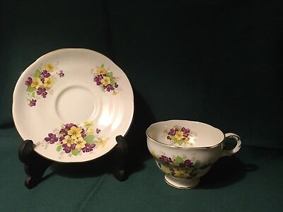 Vintage 1789 Adderley Bone China Tea Cup And Saucer Made In Lawley England