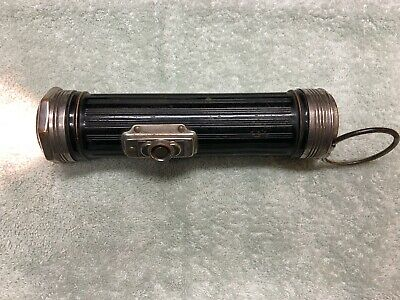Vintage Eveready Flashlight w/ Dome Glass Lense Case No. 2604 - Works Great
