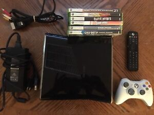 250GB XBOX360 w/6 Games +  Accessories