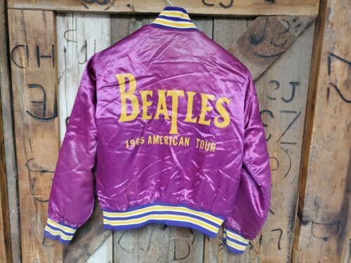 Original Beatles 1965 American Tour Satin Jacket Rare Fan Souvenir Extra Small