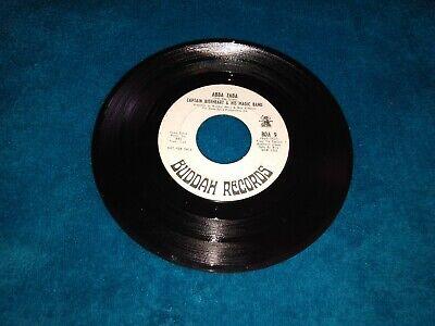 Captain Beefheart Abba Zaba / Yellow Brick Road Record Vinyl 45Rpm Promo White