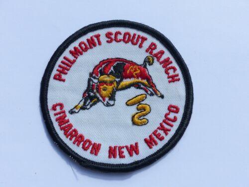 Vintage Philmont Scout Ranch Cimarron New Mexico Boy Scout Patch Thin Letters