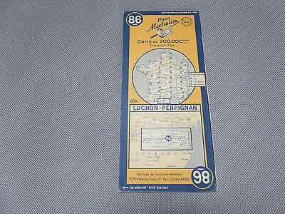 Card Michelin N°86 Perpignan-Luchon 1949/Collector Bibendum Vintage