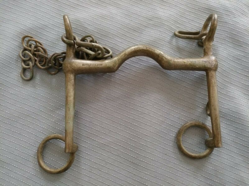 "5"" Never Rust Pelham Bit W/ Curb Chain *Used"