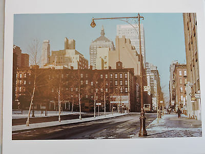 47th Street Photo - NYC 1952 East 47th Street West to 2nd Ave. near UNNew York City COLOR photo