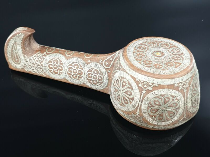 RARE Antique Imperial Russian 84 Silver Kovsh Vessel Bowl Ladle Inlay TALASHKINO
