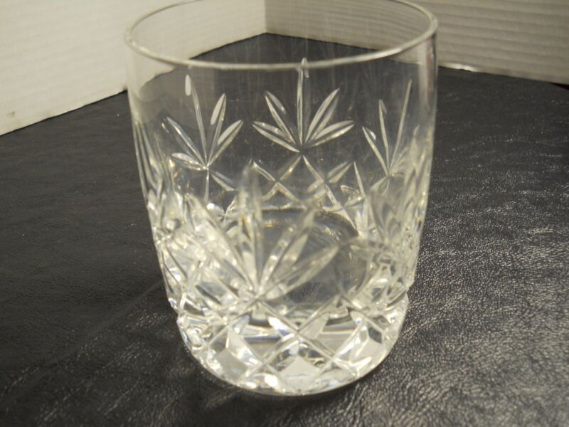 Charleston by Lenox Whiskey Glass, Cut Criss-Cross & Fan Double Old Fashioned
