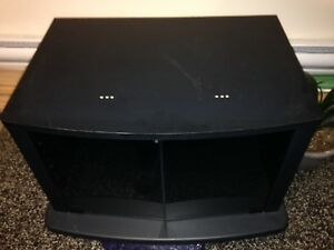 Tv stand, decor items