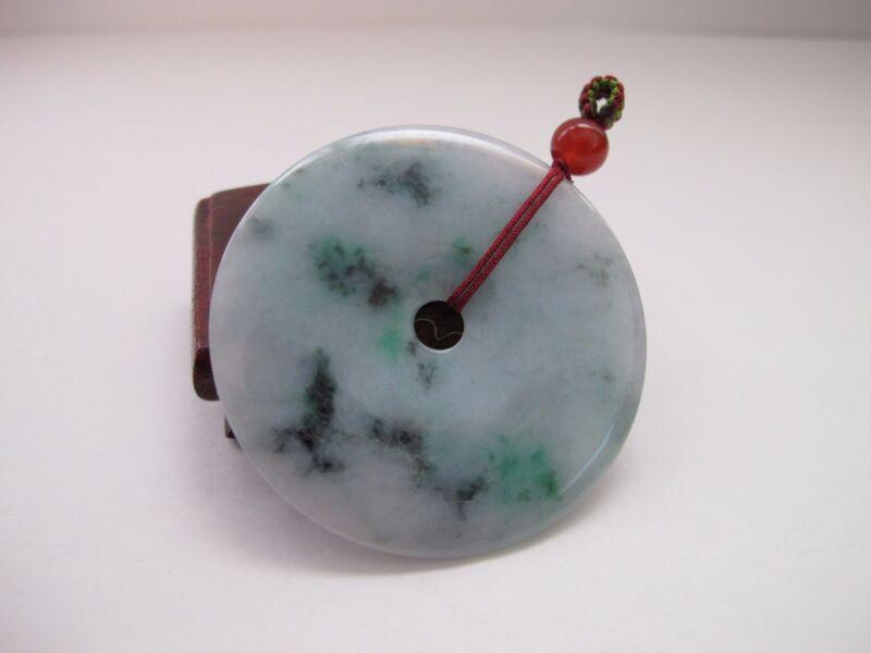 100% Natural Type A Jadeite Jade big donut pendant C00009