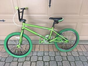 Green free agent BMX with lots of custom add-ons