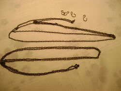 Antique Pair Black Forest Cuckoo Clock Weight Chains, Germany, Original -69