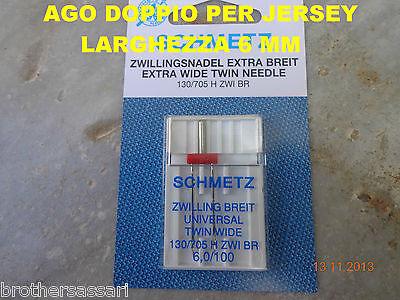AGO DOPPIO DA 6,0 mm SCHMETZ - MACCHINE MACCHINA DA PER CUCIRE SINGER - NECCHI