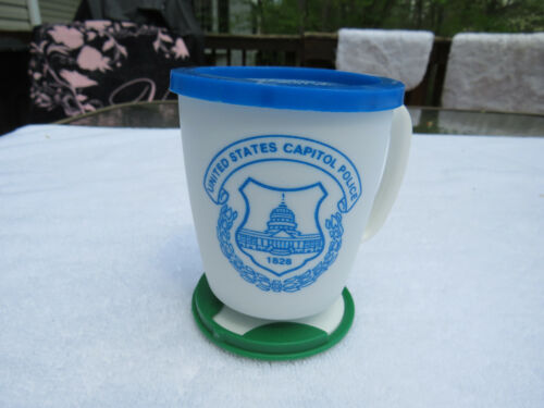 Vintage Whirley Industries United States Capitol Police dashboard coffee mug NOS